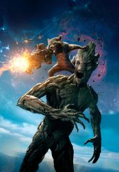 GOTG: Rocket And Groot [Hi-Res Textless Poster] by PhetVanBurton