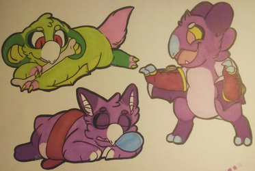 I Only Have TWO Purple Markers by SmallTimidBean