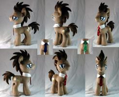 Doctor Whooves Plushie version 2.0 by WhiteHeather
