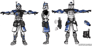 Arc Trooper Echo Reference Sheet by Blayaden