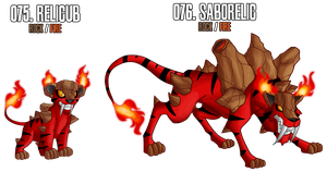 Fakemon: 75 - 76 by DrCrafty