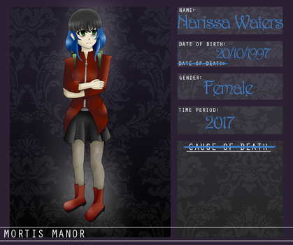 Mortis-Manor App - Narissa Waters by RosaPeach