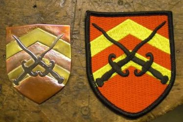 Fabric to metal badge transfer by fairyfrog