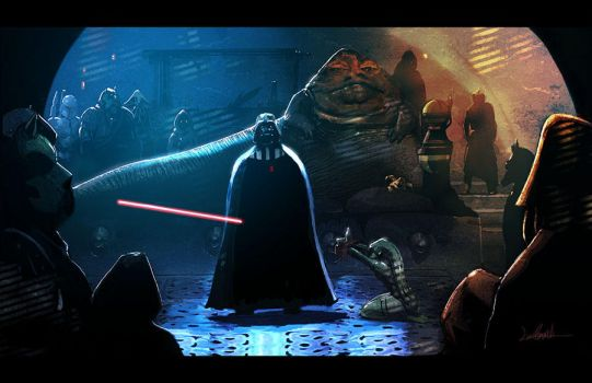 Vader in Jabba's Palace by LivioRamondelli