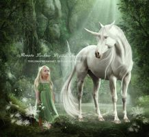 White Unicorn by ThelemaDreamsArt