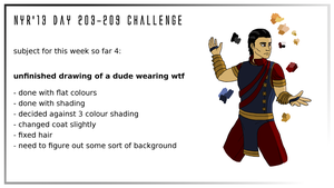 NYR'13 day 203-209 CHALLENGE - WIP4 by Deimonian
