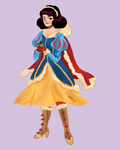 Snow White in winter warrior clothes by gintonicbb