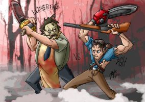 Leatherface vs Ash by AntManTheMagnif