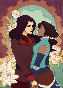 legend of korra - korra + asami by shorelle