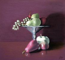 apple, pears and grapes by ArtbyJOgle