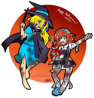 -Happy Halloween 2017- Lucy and Lily by NaughtyKittyDV-1992