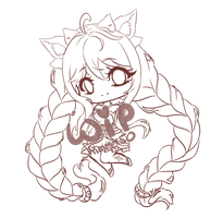 [WIP] chibi art trade with Nyesth - Yue by Shimmer5O