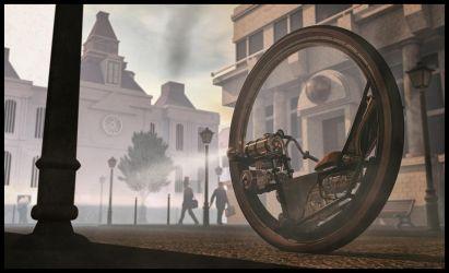 Steampunk unicycle by ChristianBT