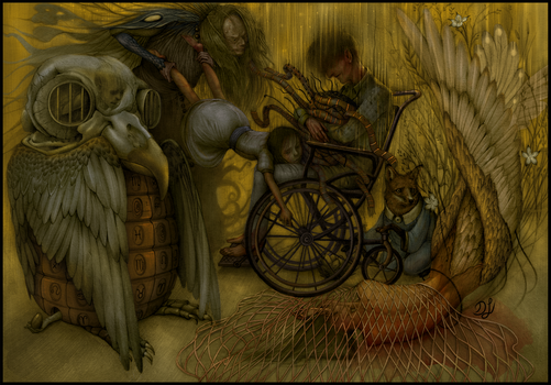 A Witch, A Dead Muse and Taciturn Spirits Color V by Davidjulianlopez