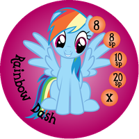 Button Ponies Rainbow Dash Game Button by Loaded--Dice