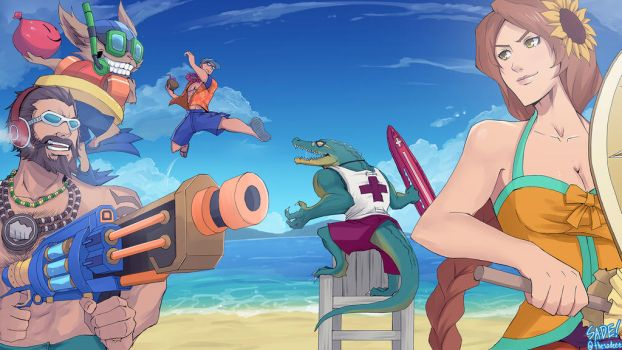 League of Legends - Pool Party (at the beach) by ffSade