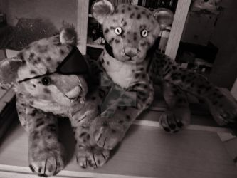 Steiff 1953 leopard with 60s Ocelot Vintage Toys by TheRaggleTaggleGypsy
