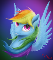 Rainbow portrait by The1Xeno1