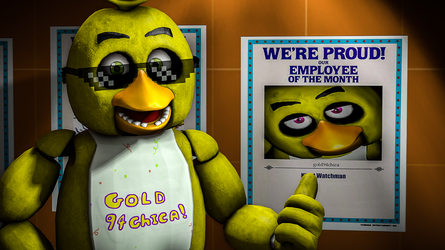 I got Employee Of The Month in Fazbear's Fright! by gold94chica