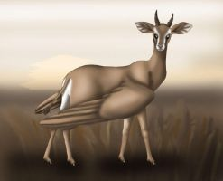 Winged Gazelle by madelief