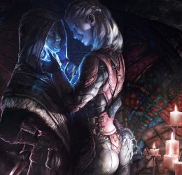 Astrid and the Dragonborn by onibox