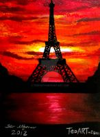 EIFFEL TOWER PARIS FRANCE PAINTING by TEOFAITH