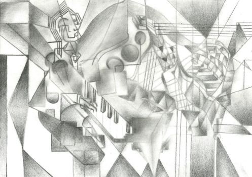 The Cubist Pianist by CamilaKL