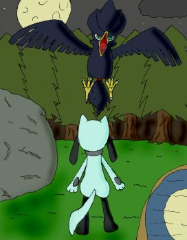 Murkrow vs.Riolu-Dead of night by Zair--Twilight