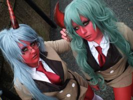 Scanty and Kneesocks I by CookieKabuki