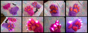 Gothicat LED Handpaws by CuriousCreatures