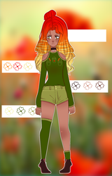 Red Poppy| Adoptable | CLOSED by RUBICHIx