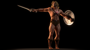 MOTU - He-Man - Animation Frame 1 by paulrich
