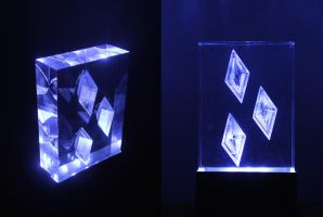 Rarity Cutie Mark Acrylic Block LED Picture by steeph-k