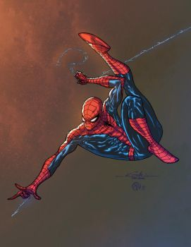 Spidey - color practice by ZethKeeper