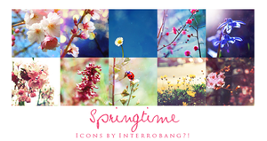 Springtime - Icons by Lhanii