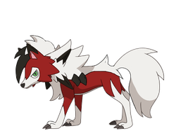 Possible Lycanroc Eclipse form by SF-LylatGalaxy64