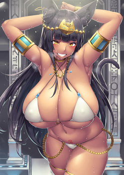 Busty Bastet by HakaishinFromJapan