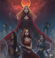 Mikedeangelo Commission Vampire sisters by Rigrena
