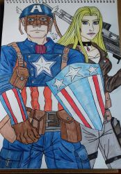 Captain America and Paris by Laineyfantasy