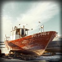 Fishing boat awaiting spring by Typen