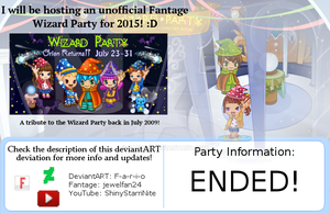 Fario's Magical Fantage Party 2015! (Info) by Fario-P