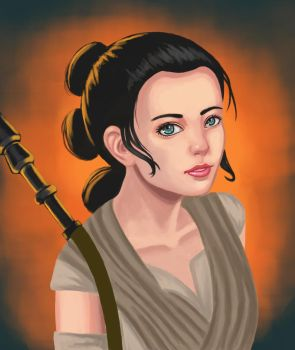Star Wars: TFA Rey by Masanohashi