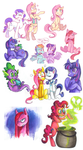 Colorfull Horses by SirPrinceCharming