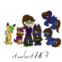me and some of my ocs  by starbrst183