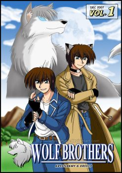 Wolf Brothers Vol.1 Manga Cover by krystlekmy