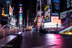 Empty Times Square by peterjdejesus