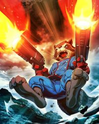 Rocket Raccoon 02 Marvel's War of Heroes Card Game by edwinhuang