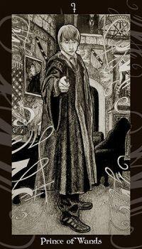 HP Tarot - Prince of Wands by Ellygator