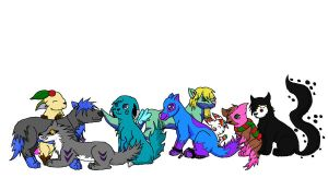 Unfinished Group Pic by Took-Southpaw