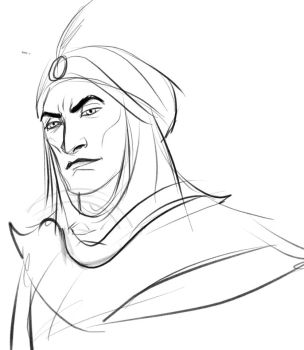 Arabian prince sketch by Lucius007